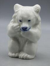 Royal Copenhagen White Polar Bear Cub Sitting Porcelain Figurine 21435 Denmark