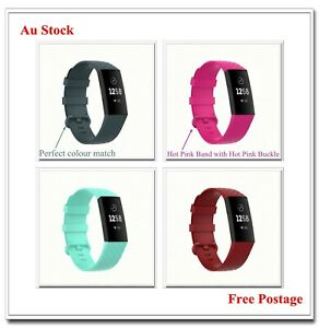 For Fitbit Charge 3/4 Watch Band Strap Replacement Wristband Soft TPU Silicone