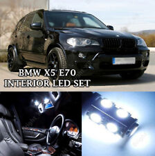 BMW X5 E70 BRIGHT COOL WHITE INTERIOR LED LIGHT BULBS ERROR FREE UPGRADE SET