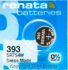 1 pc Renata 393 Watch Batteries Swiss SR754W 0% MERCURY