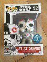 At-At Driver Star Wars Underground Toys Exclusive Funko Pop #92 *New Protector*