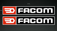 2 x FACOM Stickers - Large 280mm - High Quality Printed & Cut Stickers
