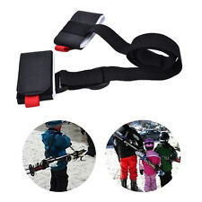 Adjustable Ski Pole Shoulder Hand Carrier Lash Handle Straps Porter Hook Loop HI