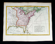 1785 ZANNONI - rare map of AMERICA NORTH, UNITED STATES, FLORIDA, GEORGIA, TEXAS