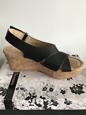 87f1dda825ce CL by LAUNDRY Delight Black Open Toe Wedge Sandals size 9