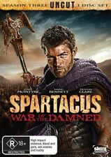 SPARTACUS War of the Damned DVD complete third season series 3 R4