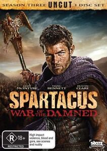 Spartacus - War Of The Damned (DVD, 2013) FREE POST