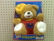 NEW - ELECTRONIC STUFFED TALKING BEAR -  - SAYS 7 DIFFERENT PHRASES