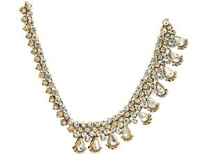 Modernistic CZ Indian  Head Piece Side Matha Patti Bridal Wedding Bridal Jewelry