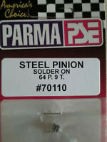Parma 70110 NEW 9 Tooth 64 Pitch Solder On Brass Pinion Gear - Qty. 1