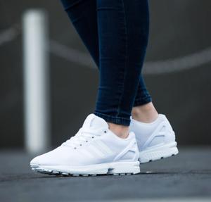 Adidas Originals Womens Girls ZX Flux J Shoes Cloud White S81421 UK 4.5~5~5.5