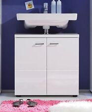 Waschbeckenunterschrank in weiß Hochglanz Bad Möbel Unterschrank Nightlife 65 cm
