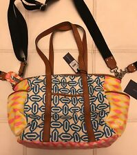 Authentic REBECCA MINKOFF Boho Boy / Girl Large Leather Diaper bag Baby Tote Big