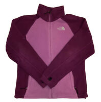 The North Face Women's Full Zip Pink And Purple Fleece Sweater Size Medium
