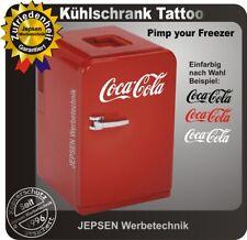 Coca Cola Aufkleber 35cm für Kühlschrank Kühltruhe oder Tür Farbwunsch
