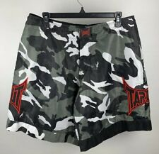"Tapout Mens MMA Sz 32 X 10"" Urban Camo Fight Board Shorts Drawstring Waist Swim"
