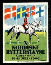 Denmark Poster Stamp - 1946 X Nordiske Rytterstævne - Horse Show