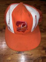 Vintage Tampa Bay Buccaneers Mesh Trucker Hat Snapback Orange And White