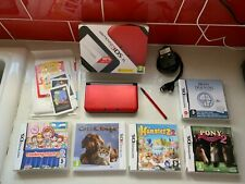 Nintendo 3ds XL Red with Games Bundle