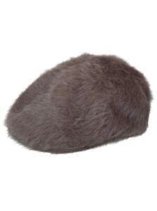 Kangol 504 Cocoa Brown Furgora Angora Fuzzy  Ivy Flat Cap Hat NWT L