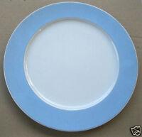Großer Teller Platzteller Rosenthal Group Classic Rose Rand hellblau blau 31 cm