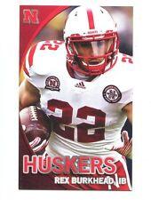 2012 Nebraska Cornhuskers Football Pocket Schedule Adidas card Rex Burkhead