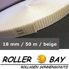 50 m Rolladengurt 18 mm beige Rolladen Gurt Gurtband  z.B. Fertighaus Rollladen