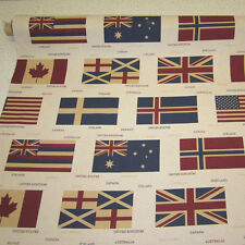 Stoff Baumwollstoff pflegeleicht Flagge Fahne USA England Hawaii Norwegen Kanada