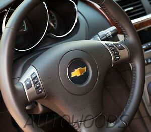 CHEVROLET MALIBU  2010 - 2012 LEATHER STEERING WHEEL -  BLACK (NO Center Part)