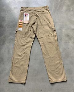 NEW Wrangler Relaxed Fit Flex Cargo Khaki Pants Men's Size 30X39