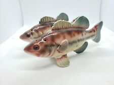Vintage Bass Sea Bass Fish Salt And Pepper Shaker Set Japan 5""