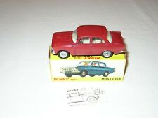 Dinky Toys Moskvitch 408 Art 1410 MINT in Original Box No Politoys No Mebetoys