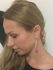 Dangling crystal earrings - Black