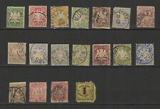 Allemagne Baviere 18 timbres anciens oblitérés /T2545