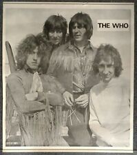 The Who Black & White Group Shot Vintage Poster Keith Moon