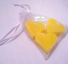 3 Heart Shape Guest Mini Hand Soap SLS & PARABEN FREE GRAPEFRUIT Scent Soap Gift