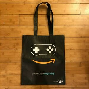 Pax West Amazon PC Gaming Powered by Intel Reusable Shopping Bag Tote Black EUC!
