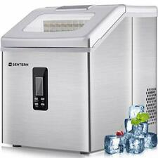 Sentern Portable Clear Ice Maker Mac 00006000 hine Electric Stainless Steel Countertop Ice