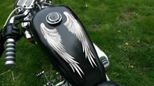 Wing decals sticker (silver) for Harley Davidson Honda & all motorcycles helmet