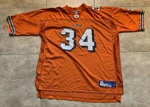Reebok Ricky Williams #34 Miami Dolphins Adult Mens 2XL Orange Jersey