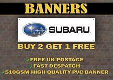 LARGE 2 METRE Subaru Car Banner for Garage / Shop Display Impreza Pro Drive