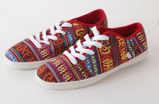 2014 NWOT WOMENS ETNIES SENIX D LOW SHOES SIZE 7 $45 red multi skateboard