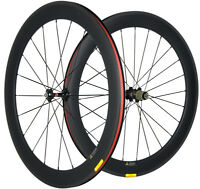 700C Road Bike Carbon Wheels 60mm 25mm Clincher Carbon Wheelset Novatec 271 Hub