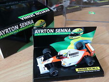 F1 SENNA MCLAREN HONDA MP4/6 WORLD CH. 1991 1/43 MINICHAMPS ASC N° 5 MC LAREN