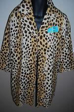 L.A.M.B. Gwen Stefani Fragrance RARE CHEETAH COTTON COAT JACKET LOGO BACK.Sz L.