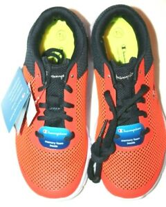Champion Kids' Gusto XT II XTII Orange Lace-Up Athletic Shoes Sneakers 1.5M