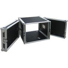 """Flightcase 8HE 19"""" Rackschienen v+h max.Tiefe 45cm. 9mm MULTIPLEX Rack Case NEU"""