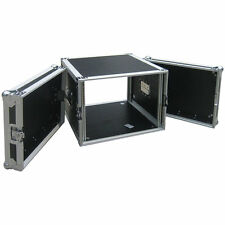 "Flightcase 8he/19"" rack punzonati V + H MAX. profondità 45cm. 9mm multiplex RACK CASE"
