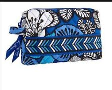 NWT Vera Bradley Small Cosmetic Blue Bayou  Pouch Case Travel