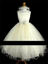 ivory Holy Communion/Bridesmaid/Flowergirl dress. Fits age 9-10 years .In Stock